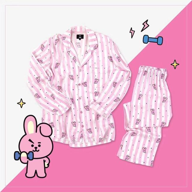BT21 Pajama Set KPOP BTS Button Down [7 Styles] #JU2191-Cooky-S-Juku Store