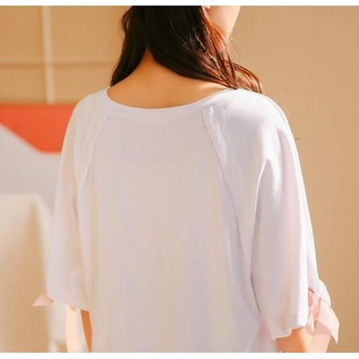 Butterfly Cotton Loose T-Shirt Kawaii Summer Tunic #JU2412-Juku Store
