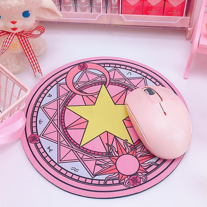 Cardcaptor Sakura Magic Clow Circle Mouse Pad [2 Colors] #JU2282-Pink-Juku Store