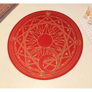 Cardcaptor Sakura Magic Clow Circle Mouse Pad [2 Colors] #JU2282-Red-Juku Store