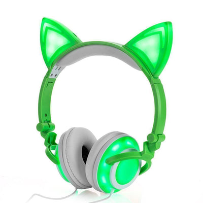 (NEW 2018!) Cat Ear Headphones LED Rechargeable [5 Colors] #JU1792-Juku Store