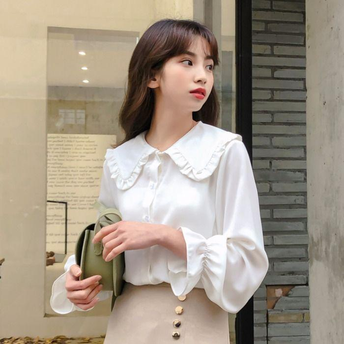 Chic Casual Spring Blouse Korean Streetwear #JU3018