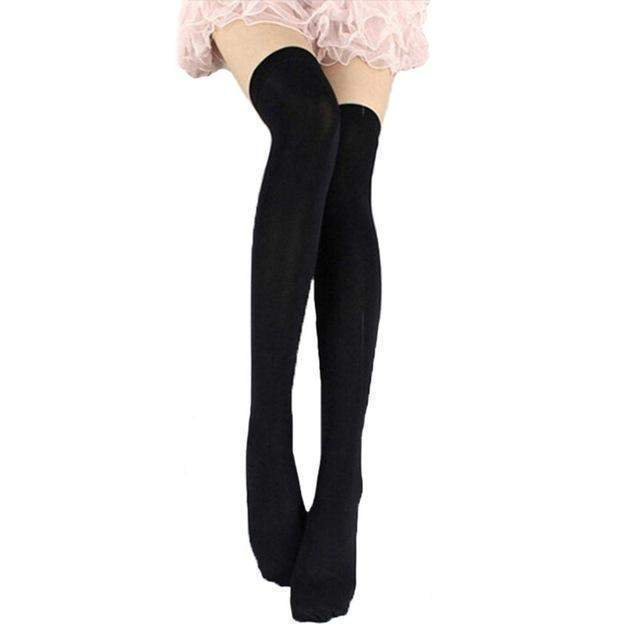 Cosplay Skinny Knee Stockings Thigh High Socks [7 Colors] #JU1862-Orange-Juku Store