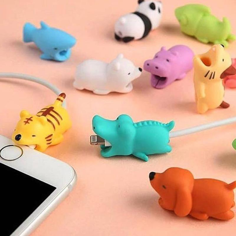 Cute Animal Bite iPhone / Android Cable Protectors [29 Styles] #JU2084-Juku Store
