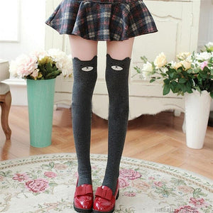 Cute Cats And Bears Animal Thigh Socks [3 Styles] #JU1835-Juku Store