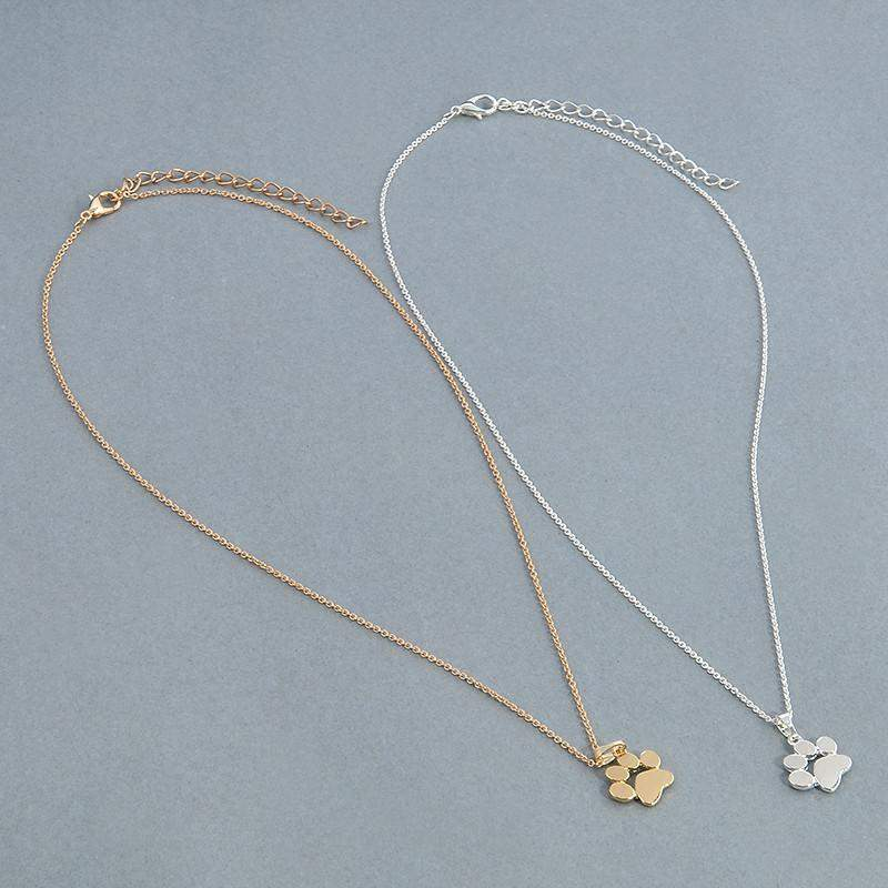 Cute Doggy Paw Necklace [2 Colors] #JU1915-Juku Store