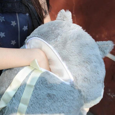Cute Hamster Plush Backpack [3 Colors] #JU2351-Juku Store