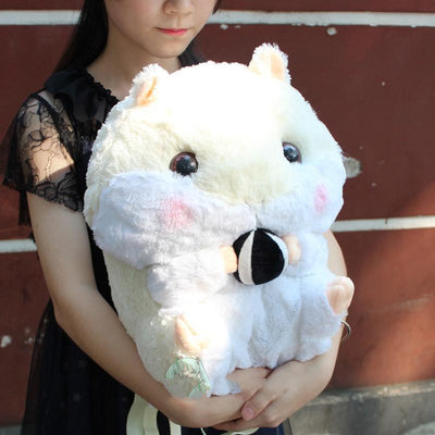 Cute Hamster Plush Backpack [3 Colors] #JU2351-Beige-Juku Store