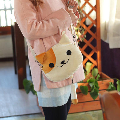 Cute Neko Atsume Crossbody Bag #JU2196-Gold-Juku Store