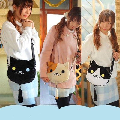 Cute Neko Atsume Crossbody Bag #JU2196-Juku Store