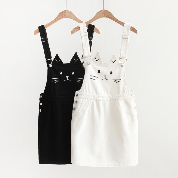 Cute Neko Mori Girl Suspender Dress [2 Colors] #JU2184-Juku Store