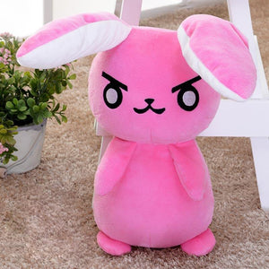 Cute Overwatch D.Va Pink Rabbit Plushie Doll [2 Colors] #JU1985-Pink-Juku Store