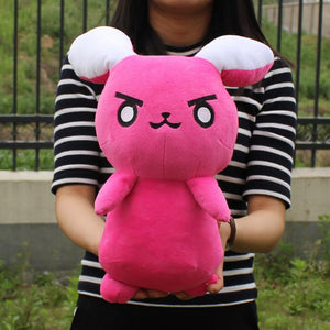 Cute Overwatch D.Va Pink Rabbit Plushie Doll [2 Colors] #JU1985-Rose Red-Juku Store
