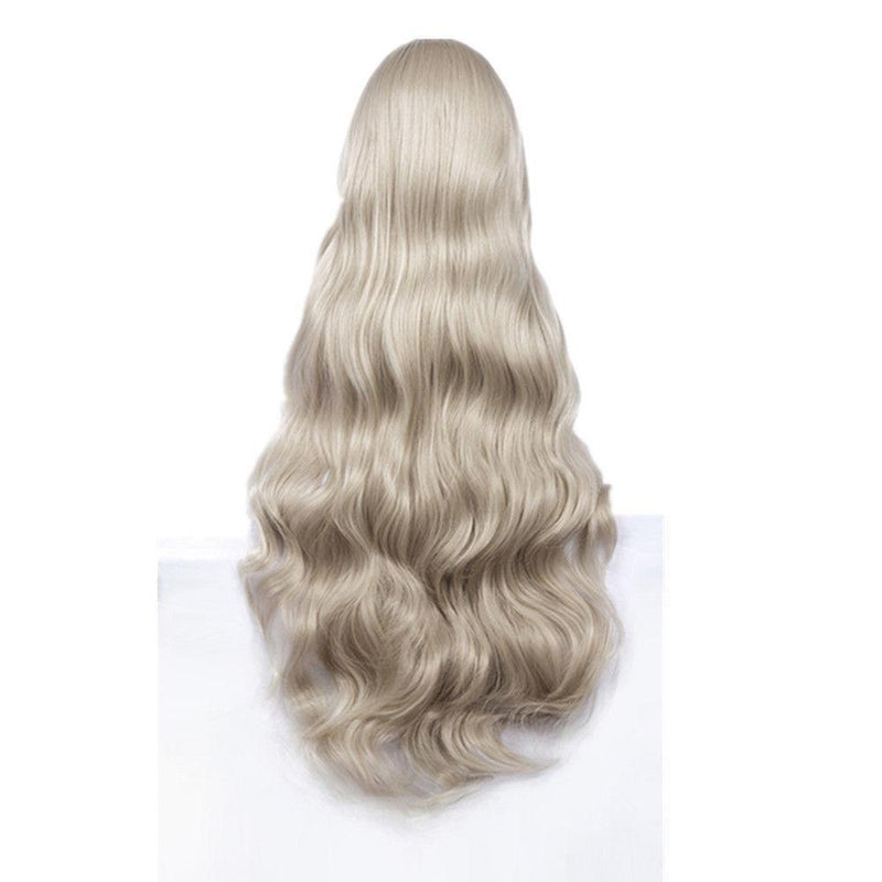 DARLING in the FRANXX Kokoro Silver-White Long Wavy Cosplay Wig With Cap #JU2074-Juku Store