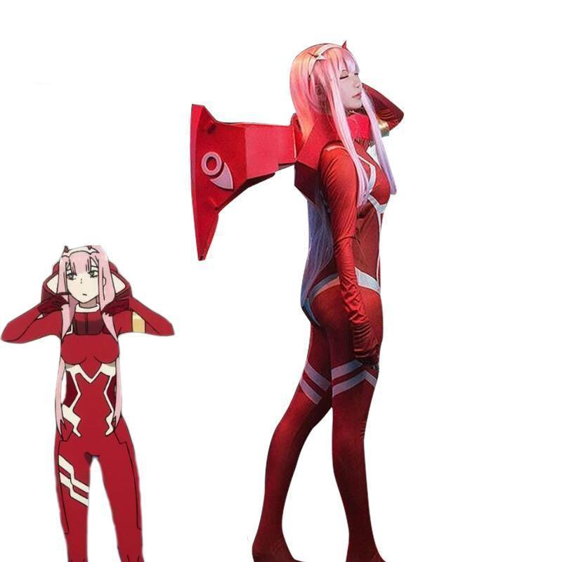 DARLING in the FRANXX Zero Two 002 Combat Jumpsuit Cosplay Costume #JU2068-Juku Store