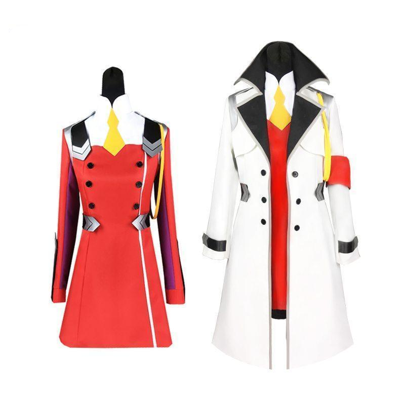 DARLING in the FRANXX Zero Two 002 Cosplay Coat Uniform Costume [2 Styles] #JU2066-Juku Store
