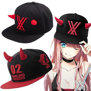 DARLING in the FRANXX Zero Two 002 Fitted Cap Cosplay Hat [2 Styles] #JU2069-Juku Store
