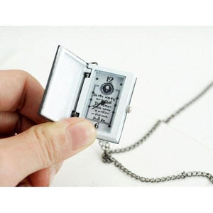 Death Note Necklace Yami Kawaii Pocket Watch Chain Accessory #JU1981-Juku Store