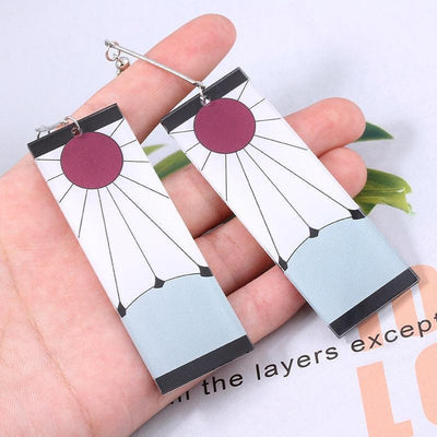 Demon Slayer Earring Anime Cosplay Accessory #JU2664-Juku Store