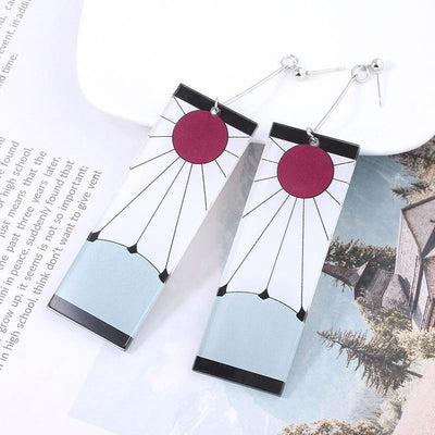 Demon Slayer Earring Anime Cosplay Accessory #JU2664-Earrings 2-Juku Store