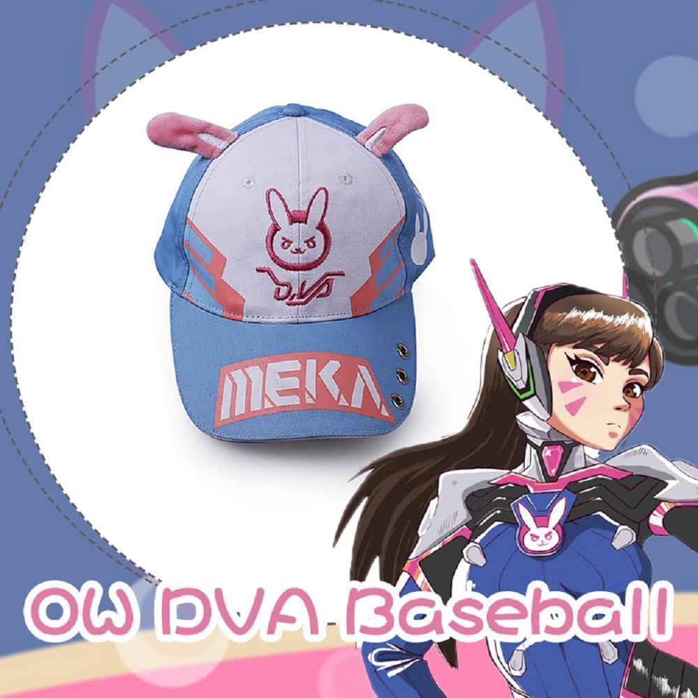 DVA Overwatch Rabbit Ear Cute Baseball Cap Hat Adjustable #JU1903-Juku Store