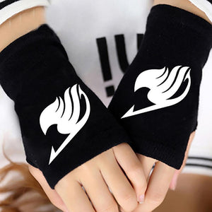 Fairy Tail Cotton Warm Wrist Gloves Fingerless Cosplay #JU2011-Juku Store