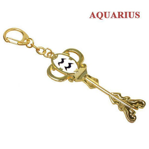 Fairy Tail Lucy Zodiac Star Twelve Constellation Keychain Cosplay Accessory [12 Styles] #JU2012-Aquarius-Juku Store