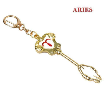 Fairy Tail Lucy Zodiac Star Twelve Constellation Keychain Cosplay Accessory [12 Styles] #JU2012-Aries-Juku Store