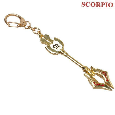 Fairy Tail Lucy Zodiac Star Twelve Constellation Keychain Cosplay Accessory [12 Styles] #JU2012-Scorpio-Juku Store