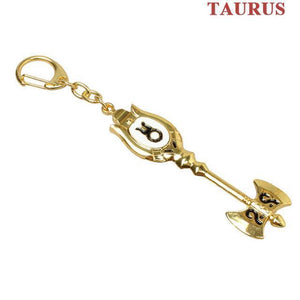 Fairy Tail Lucy Zodiac Star Twelve Constellation Keychain Cosplay Accessory [12 Styles] #JU2012-Taurus-Juku Store