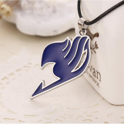 Fairy Tail Necklace Guild Anime Pendant [4 Colors] #JU2010-Blue-Juku Store