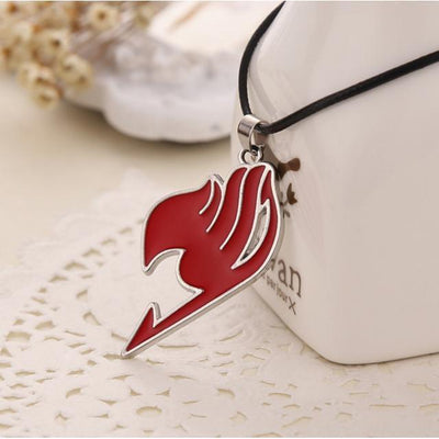 Fairy Tail Necklace Guild Anime Pendant [4 Colors] #JU2010-Red-Juku Store