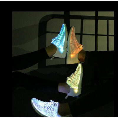 Full Surface LED Glowing Sneakers Harajuku Light Up Shoes #JU2434-Juku Store