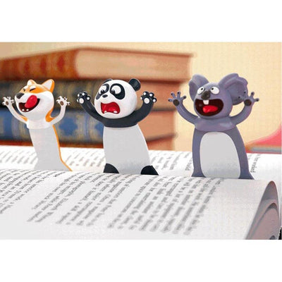 Funny 3D Animal Bookmark Kawaii Stationery Accessory #JU2908-Juku Store