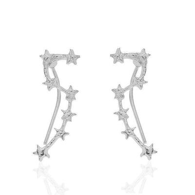 Gold Plated Big Dipper Constellation Fashion Earrings [2 Colors] #JU2182-Silver-Juku Store