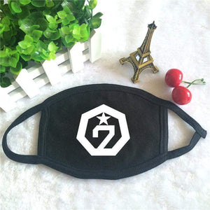 GOT7 Cotton Face Mask K-POP [2 Colors] #JU1913-Black-Juku Store