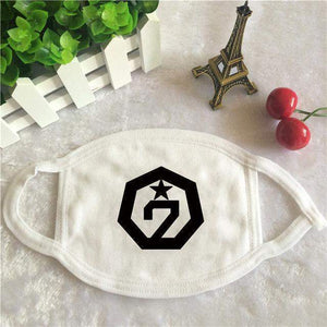 GOT7 Cotton Face Mask K-POP [2 Colors] #JU1913-White-Juku Store