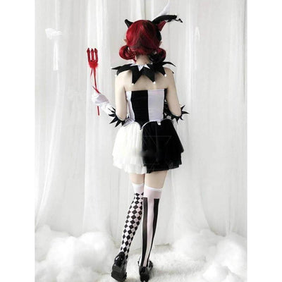 Gothic Lolita Clown Costume Kawaii Cosplay #JU2626-Juku Store