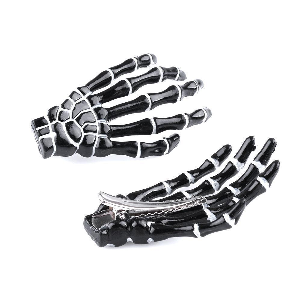 Gothic Punk Skeleton Hair Pin Clip [6 Colors] #JU1977-Black-Juku Store