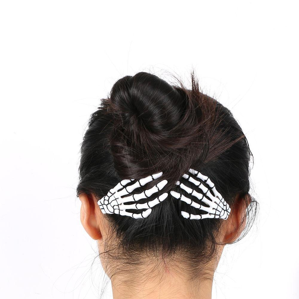 Gothic Punk Skeleton Hair Pin Clip [6 Colors] #JU1977-Juku Store