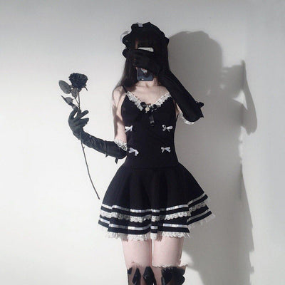Gothic Sexy Maid Cosplay Costume Lingerie #JU2976-Juku Store