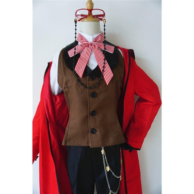 Grell Sutcliff Cosplay Uniform Black Butler Costume #JU2692-For Men-S-Juku Store