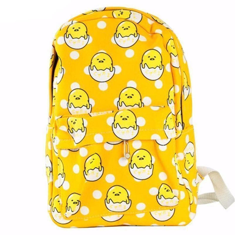 Gudetama Egg Fashion Backpack [2 Styles] #JU1869-Gudetama-Juku Store