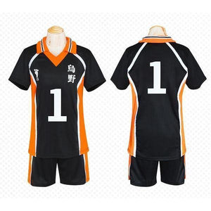 Haikyuu!! Cosplay Karasuno High School Volleyball Jersey Uniform Costume [12 Styles] #JU2127-#1-M-Juku Store