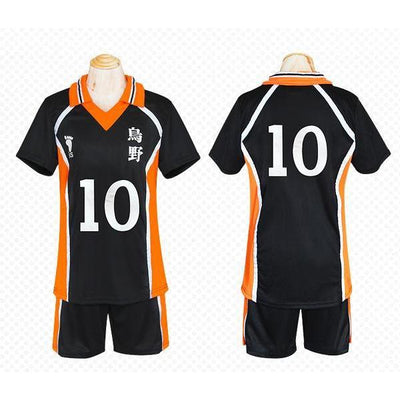 Haikyuu!! Cosplay Karasuno High School Volleyball Jersey Uniform Costume [12 Styles] #JU2127-#10-M-Juku Store