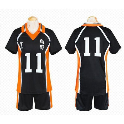 Haikyuu!! Cosplay Karasuno High School Volleyball Jersey Uniform Costume [12 Styles] #JU2127-#11-M-Juku Store