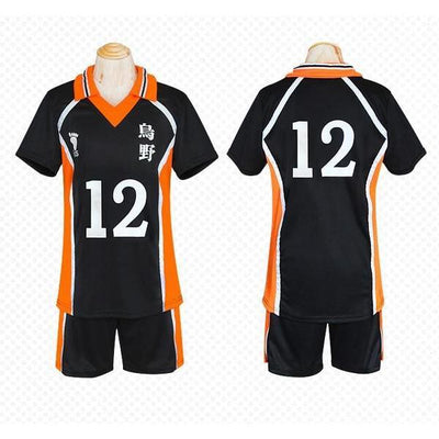 Haikyuu!! Cosplay Karasuno High School Volleyball Jersey Uniform Costume [12 Styles] #JU2127-#12-M-Juku Store