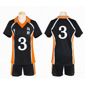 Haikyuu!! Cosplay Karasuno High School Volleyball Jersey Uniform Costume [12 Styles] #JU2127-#3-M-Juku Store