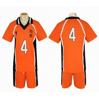 Haikyuu!! Cosplay Karasuno High School Volleyball Jersey Uniform Costume [12 Styles] #JU2127-#4-M-Juku Store