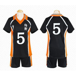 Haikyuu!! Cosplay Karasuno High School Volleyball Jersey Uniform Costume [12 Styles] #JU2127-#5-M-Juku Store